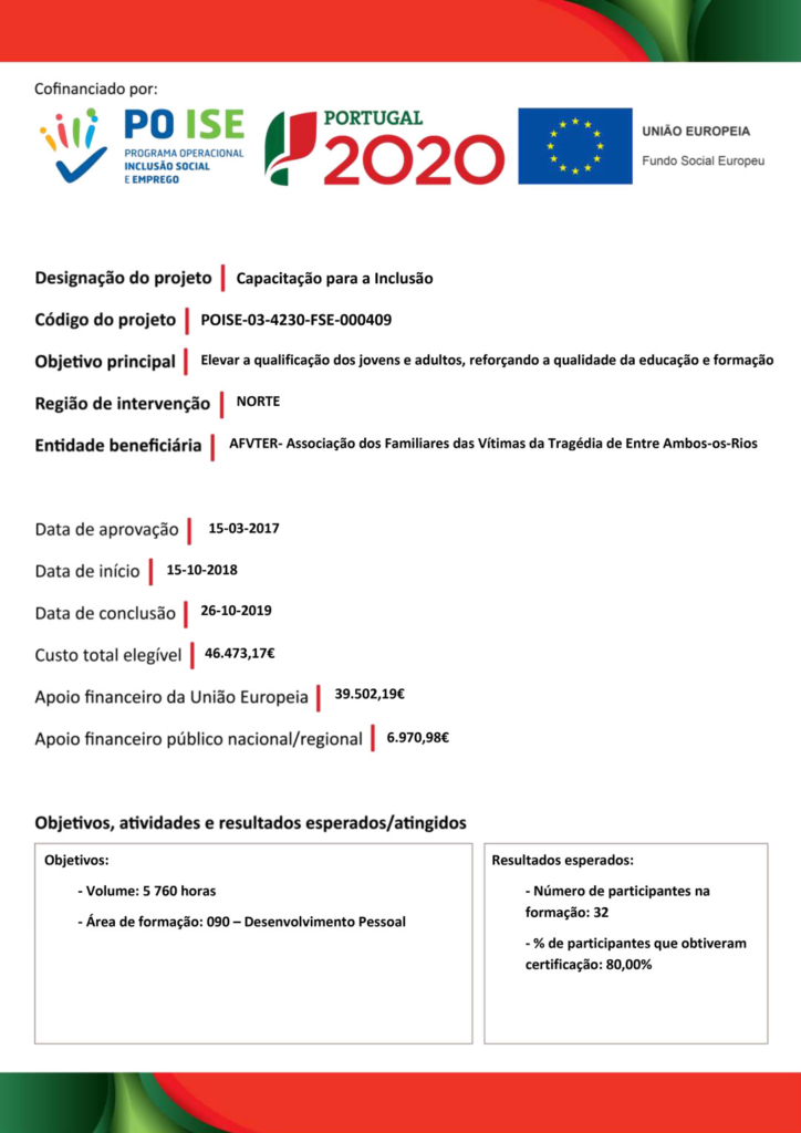 Ficha projeto Capacitar